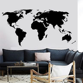 Декаль на стену Карта мира