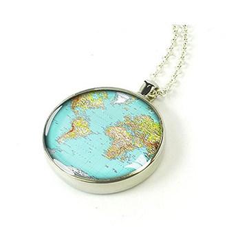 Подвеска с картой мира