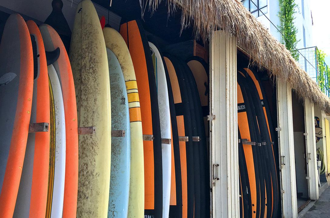 Серфборды школы Endless Summer на Бали
