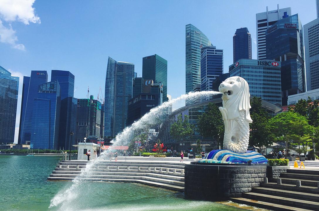Статуя Мерлайона в Сингапур