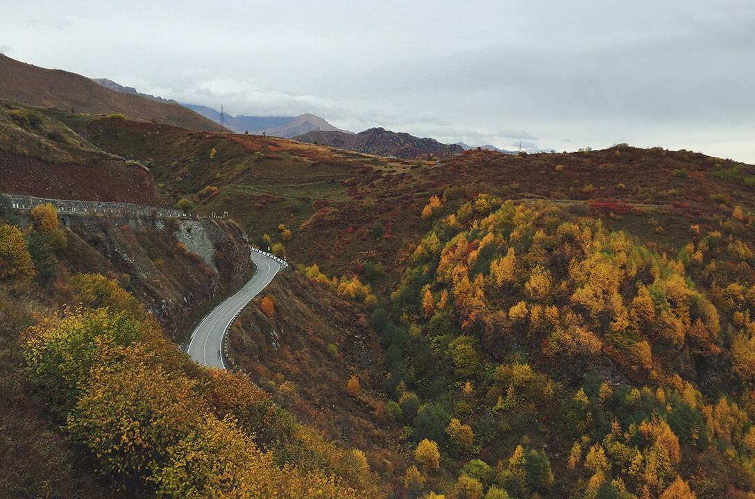 Военно-Грузинская дорога осенью