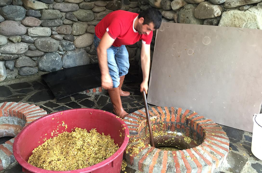Изготовление грузинского вина