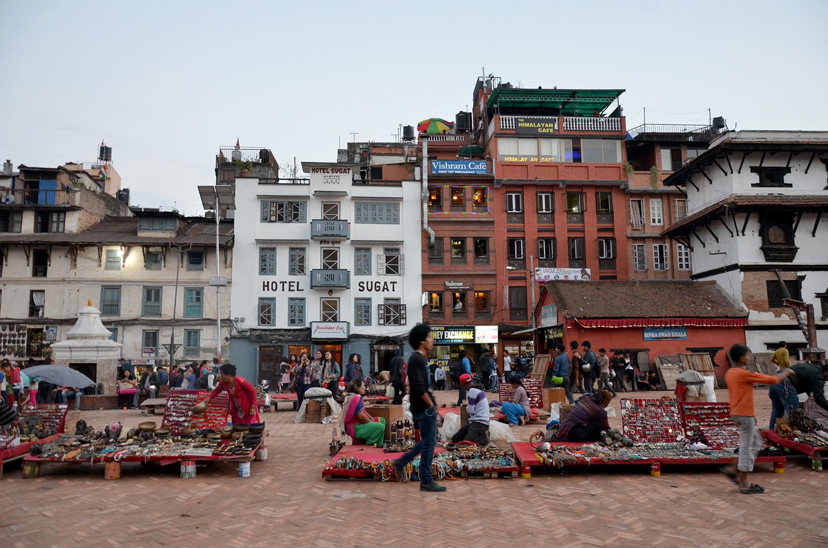 Площадь Дурбар в Катманду, Непал