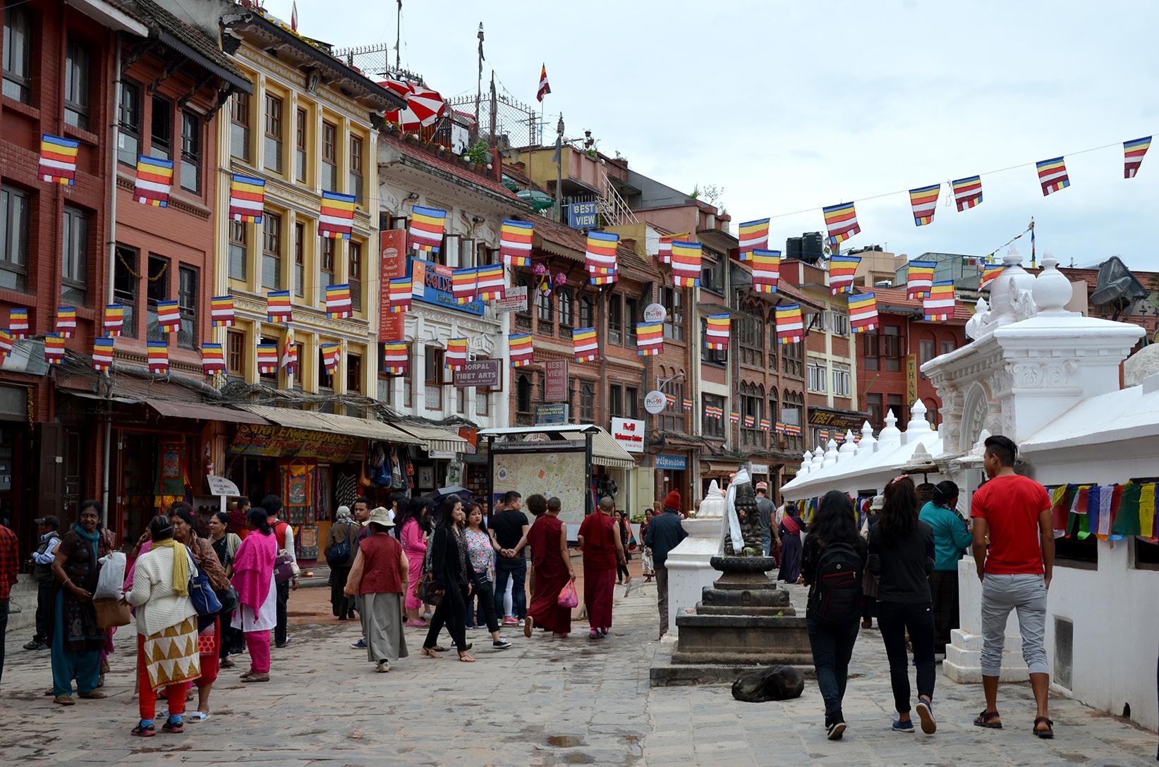 Площадь у ступы Будданатх, Непал