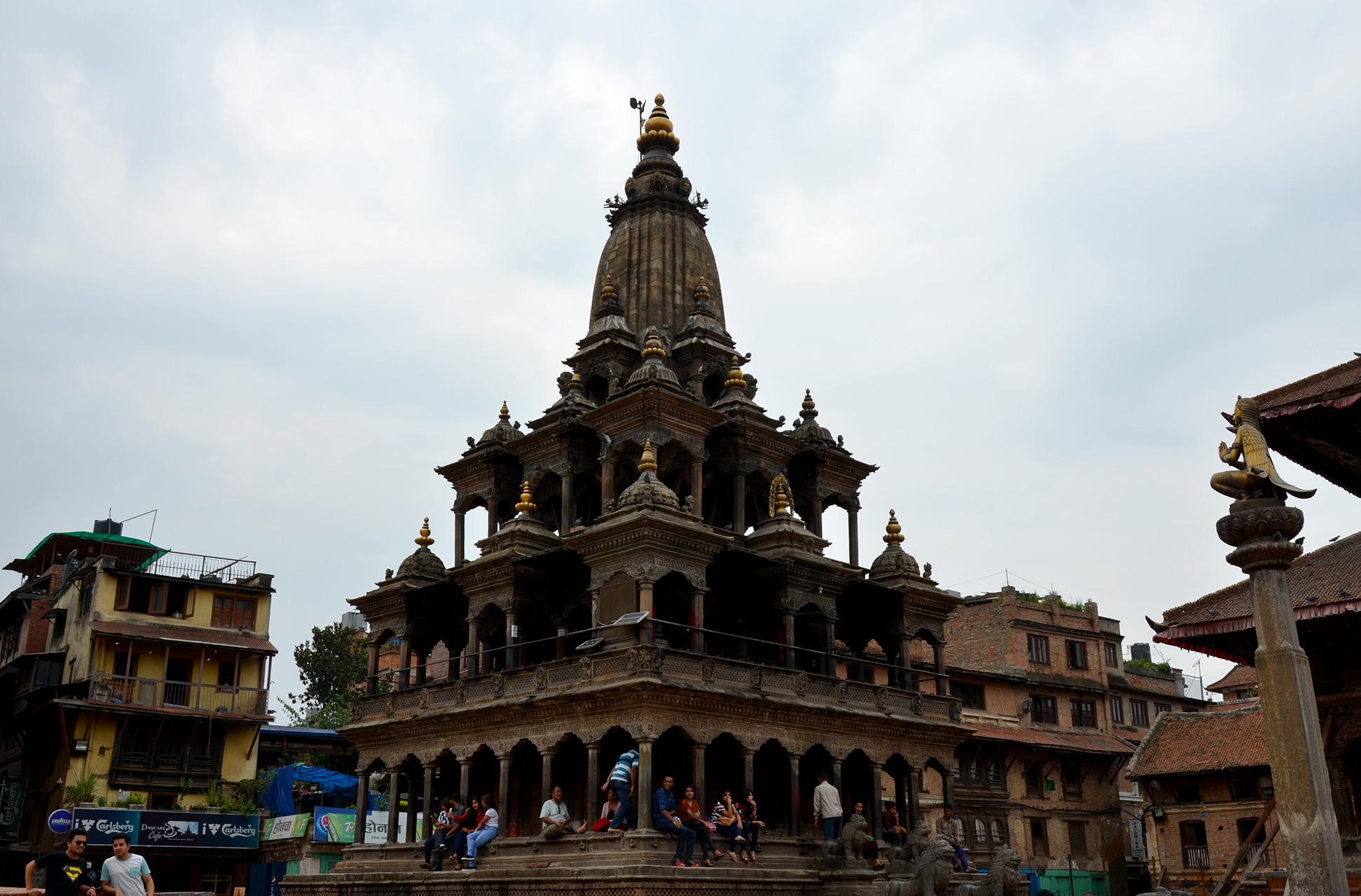 Площадь Дурбар в городе Патан, Непал