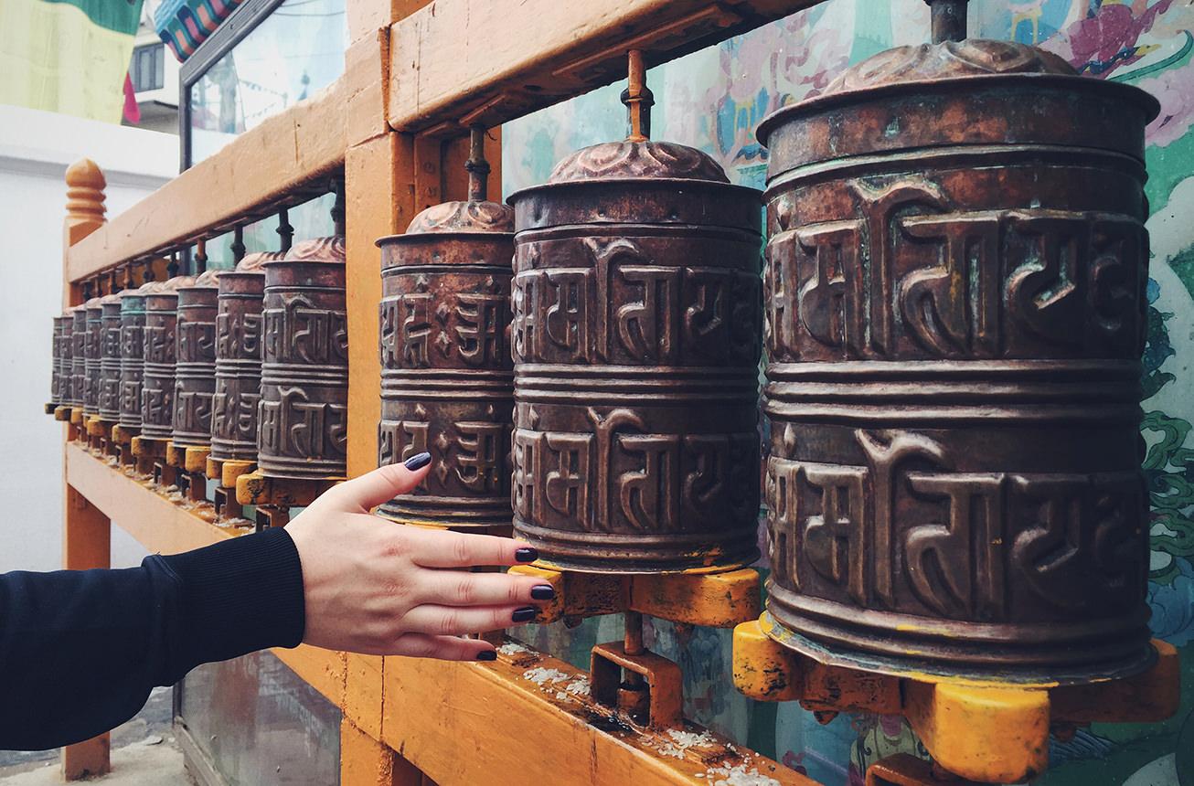 Молитвенные барабаны в Буддатанх, Непал