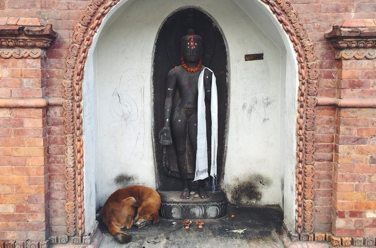 Будда на территории Пашупатинатх, Катманду, Непал