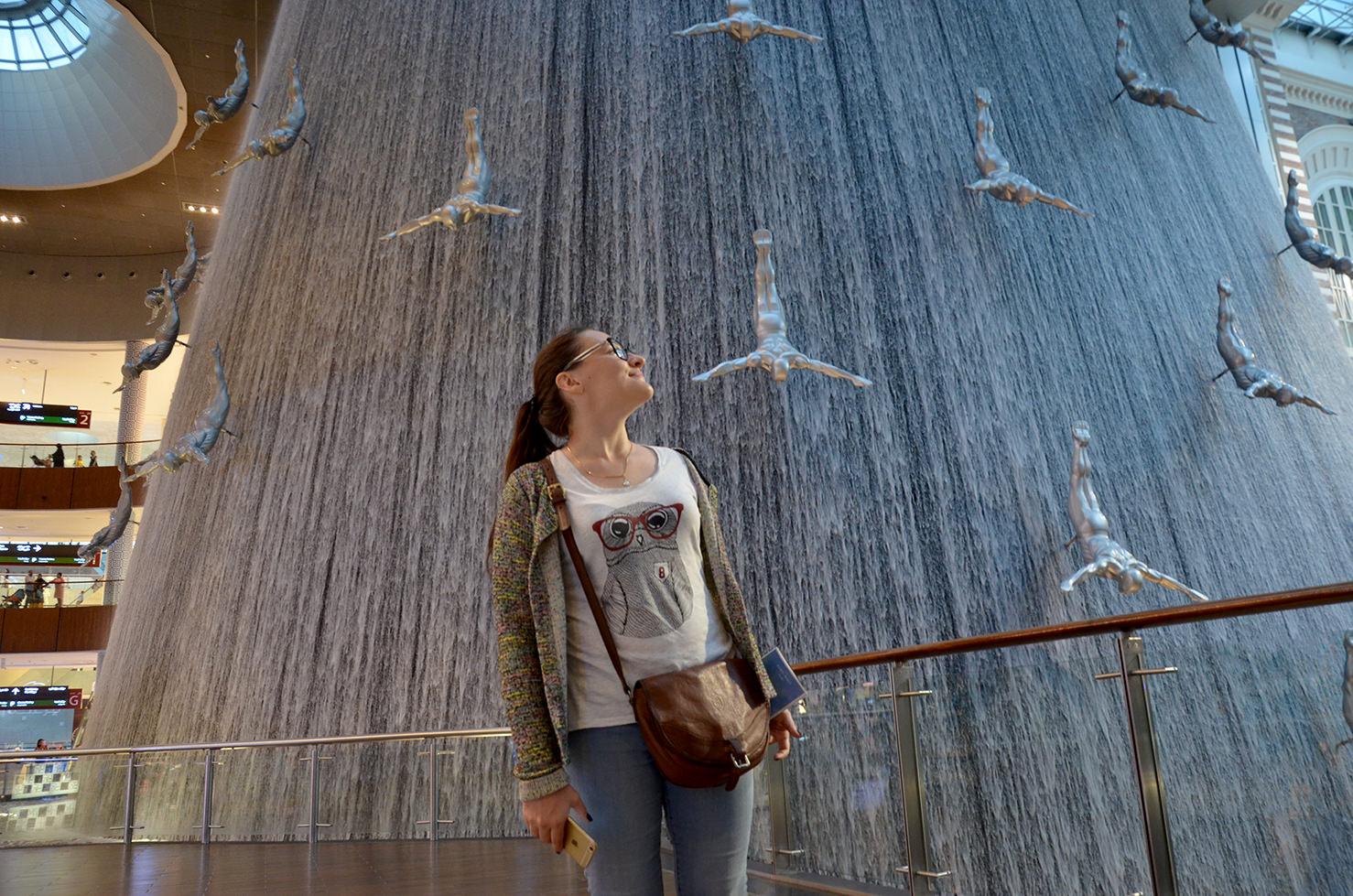 "Дубаи молл водопад ""Ныряльщики за жемчугом"""