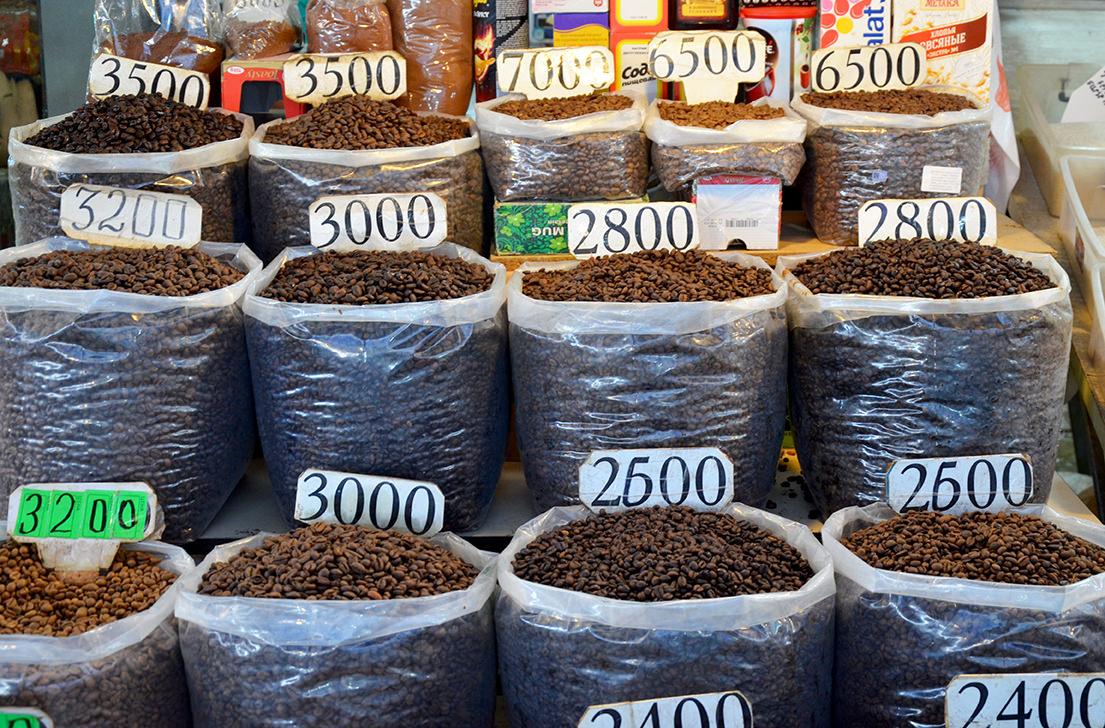 Армянский кофе на ереванском рынке