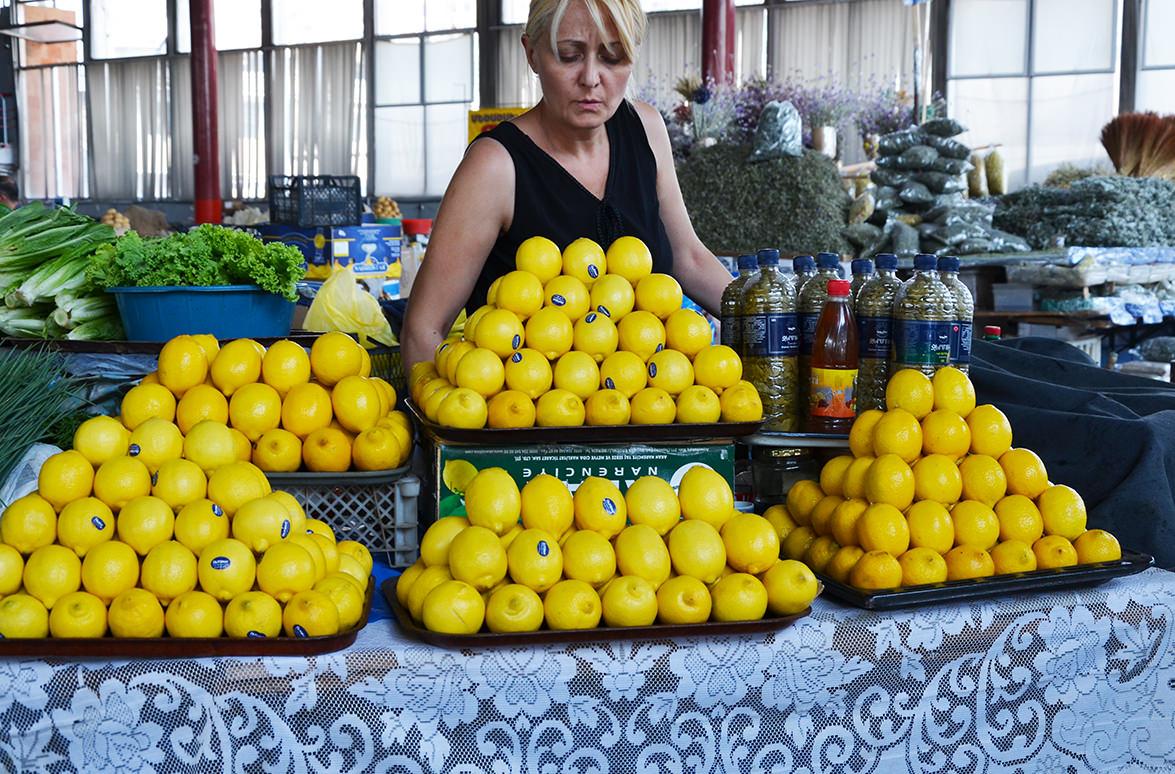 Лимоны на ереванском рынке