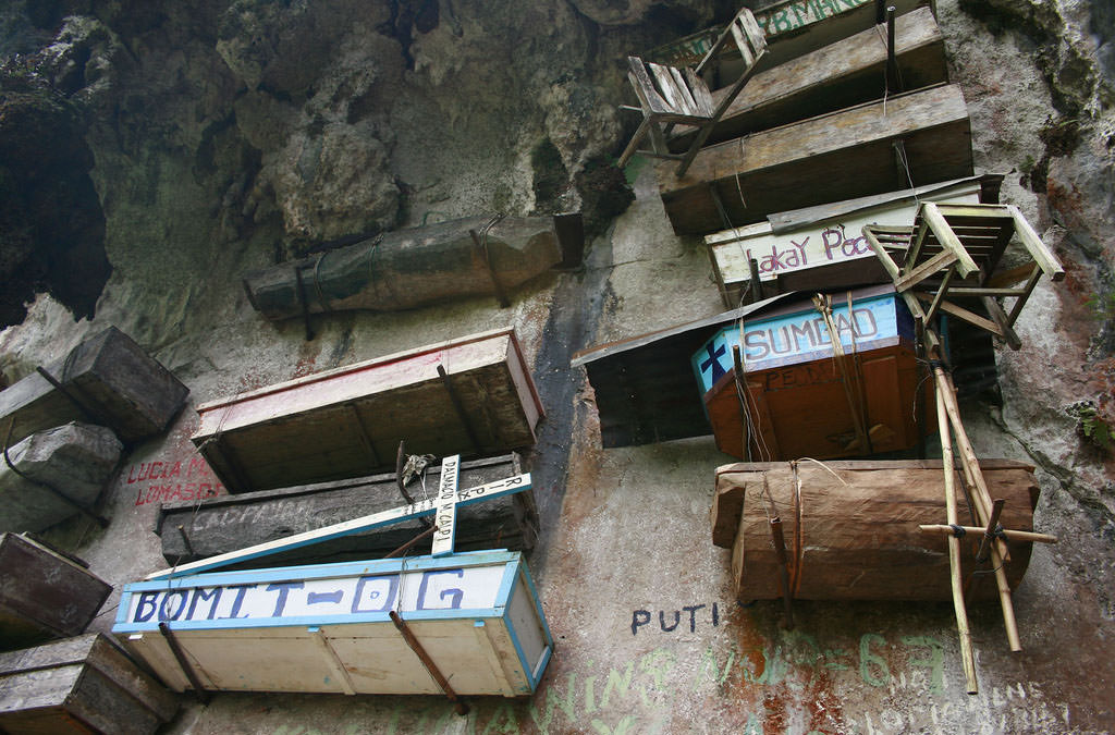 висячие гробы в Сагаде, Филиппины