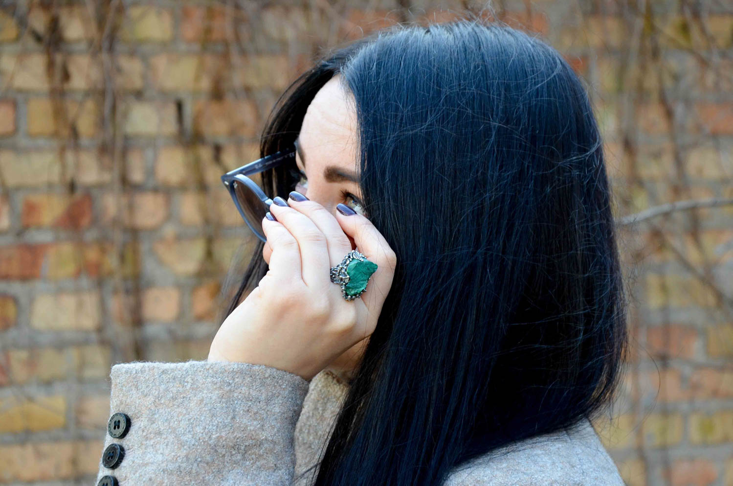 Кольцо с малахитом из первой коллекции LivingInTravels