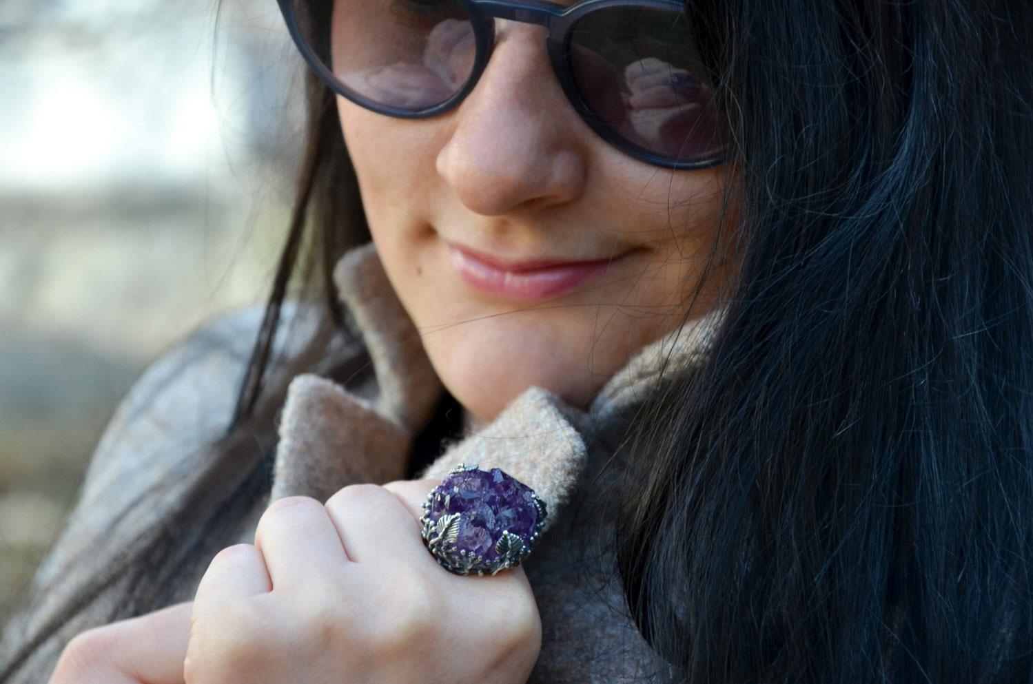 Кольцо с аметистом из первой коллекции LivingInTravels