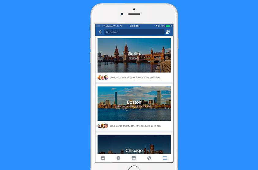 Facebook тестирует новый сервис для путешественников