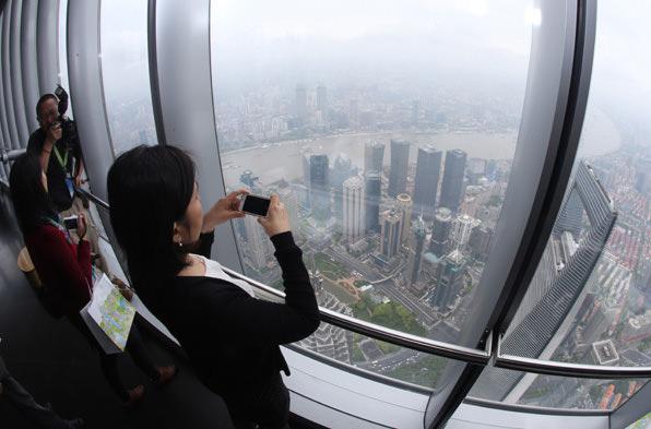 В Шанхае открылась самая высокая обзорная площадка