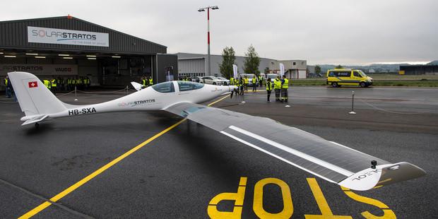В Швейцарии тестируют самолет на солнечных батареях