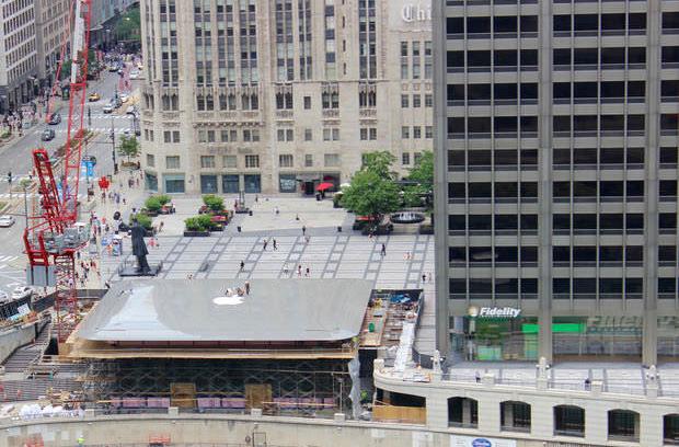 На крыше нового Apple Store в Чикаго установят гигантский MacBook