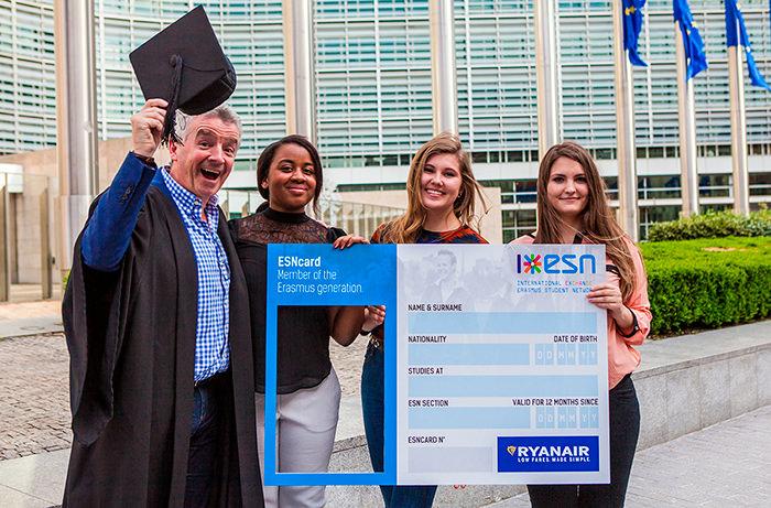 Студенты смогут получить скидку на полеты с Ryanair