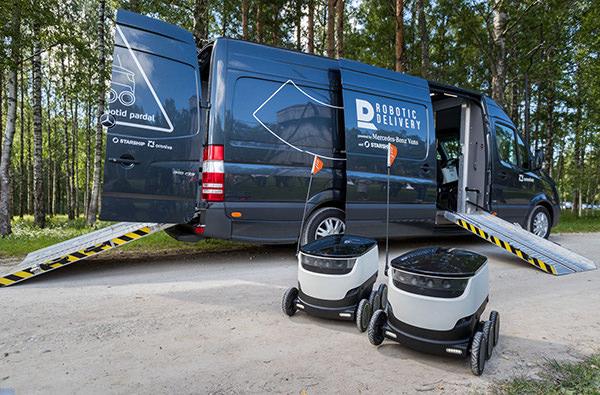 В Эстонии тестируют роботов для доставки почты