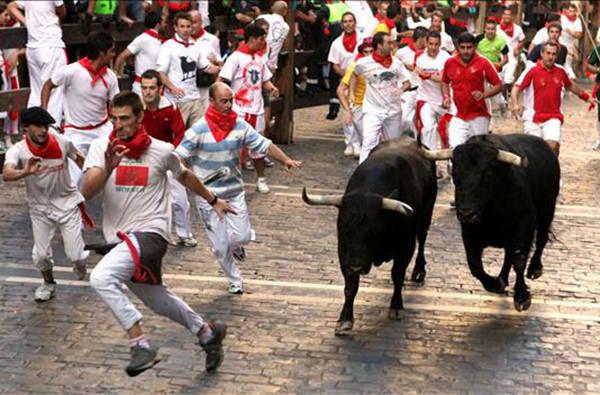 В Испании начался фестиваль Энсьерро или бег быков