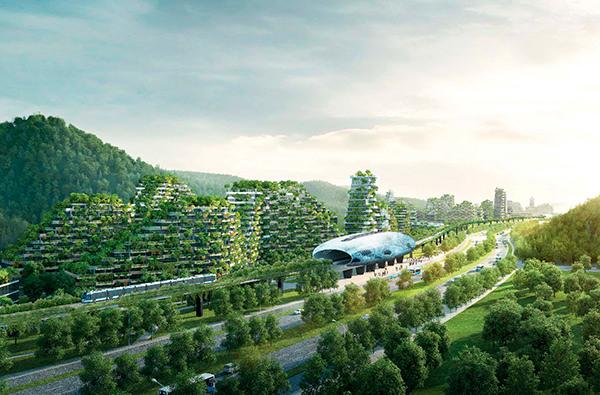 В Китае построят современный город-лес