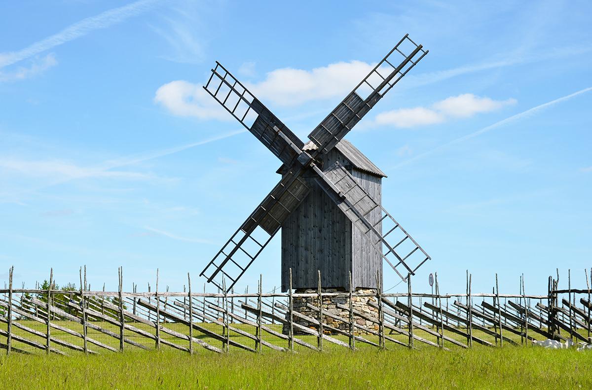 Англасские ветряные мельницы, Англа, Эстония