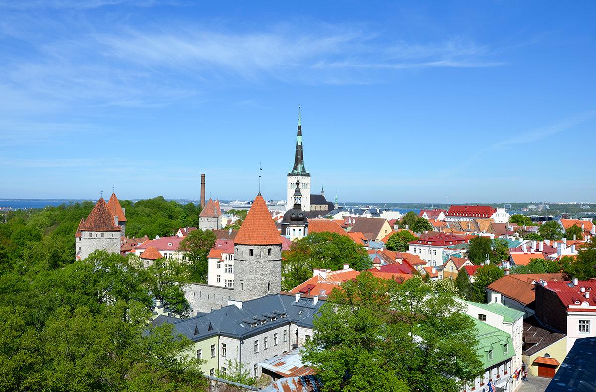 Вид на Старый Таллин со смотровой площадки