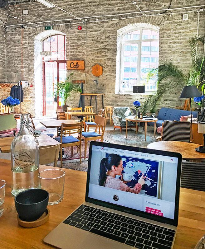 Рабочая кофейня в хипстерском районе Теллискиви