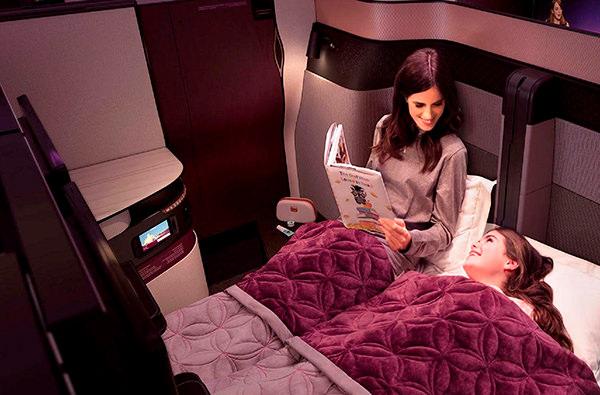 Qatar Airways установит двуспальные кровати в самолетах