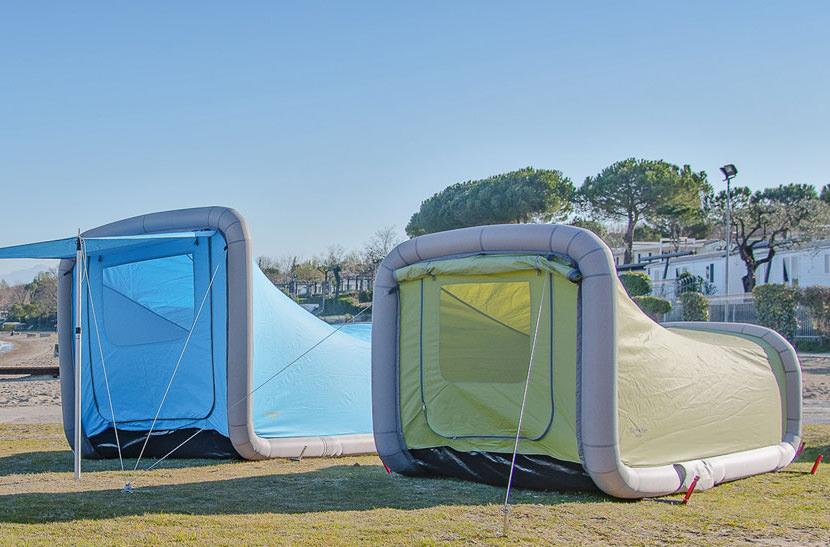 Австрийская компания представила инновационные надувные палатки