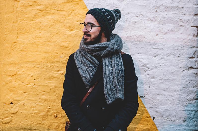Тёплый набор шапка и шарф