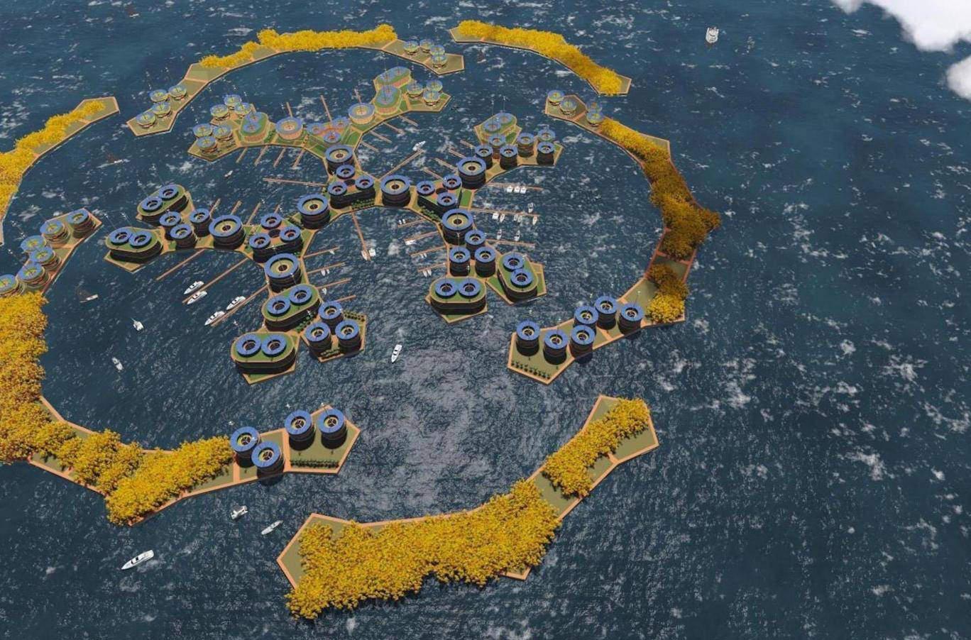 У берегов Французской Полинезии появится плавучий город