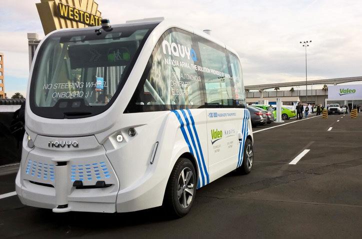 В Париже будут ездить автономные такси