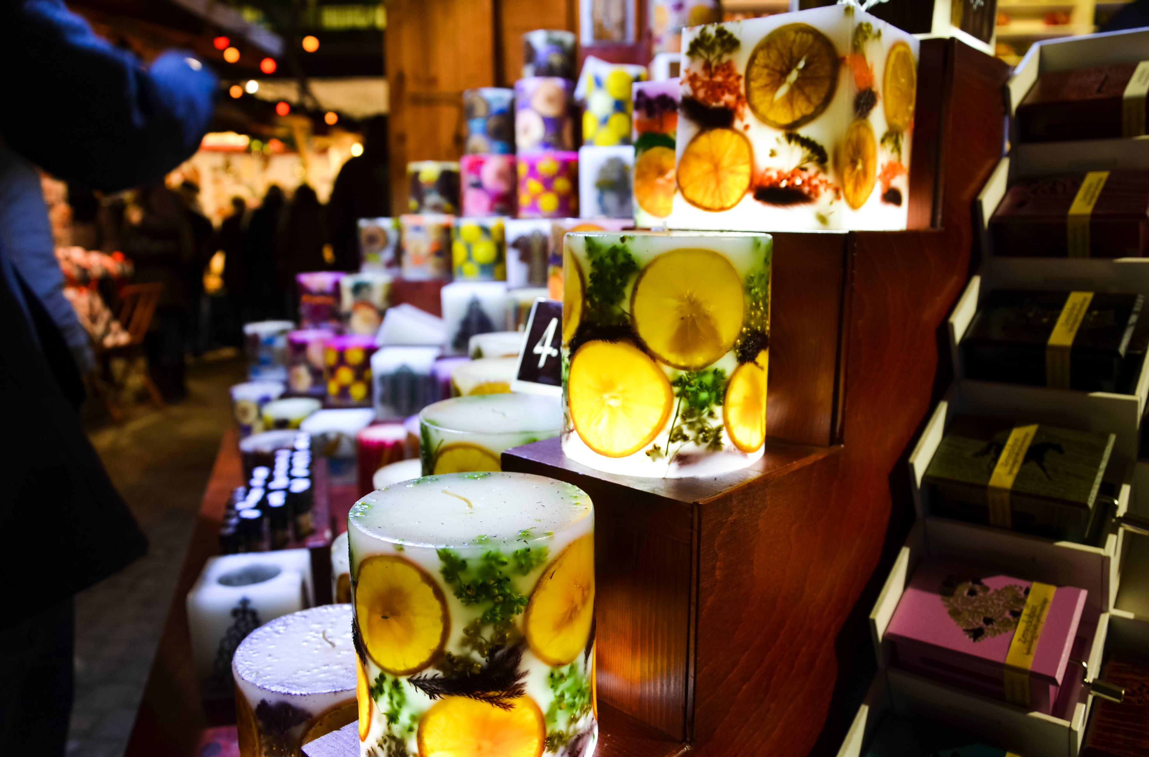 Свечи ручной работы, рождественский рынок Будапешта
