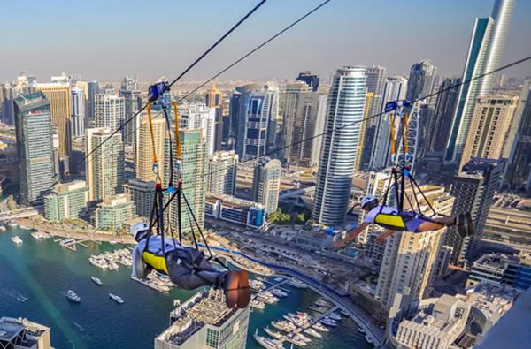 В Дубае появился самый длинный зип-лайн в мире