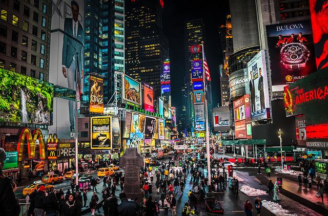 В отелях Нью-Йорка возле Таймс-сквер ввели дополнительный сбор
