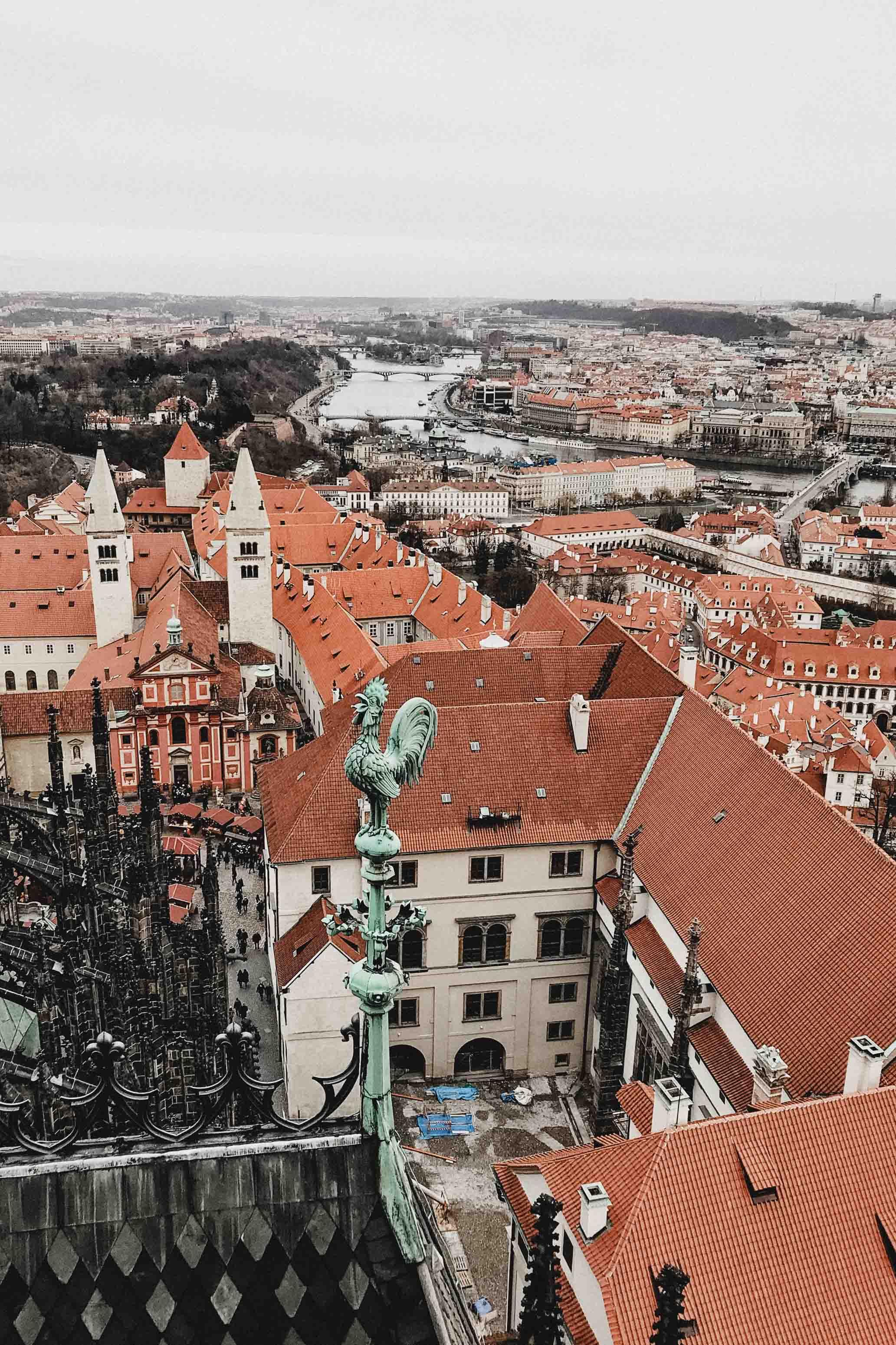 Южная башня собора Святого Вита. Пражский град или как посмотреть на Прагу с высоты