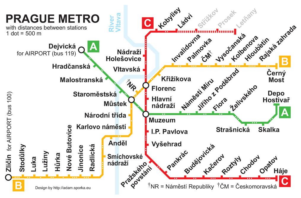 Карта метро Праги. Пражский град или как посмотреть на Прагу с высоты