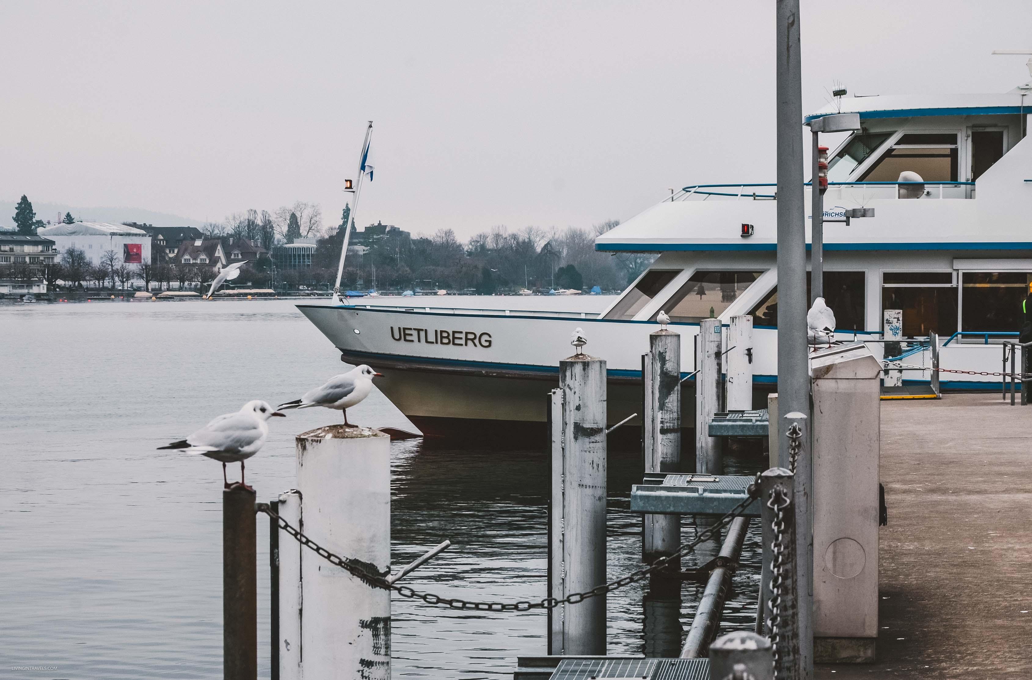 Прогулки по озеру Цюрих. Вид на город и озеро с башни ценркви Гроссмюнстер. Швейцария: Цюрих и окрестности за 48 часов