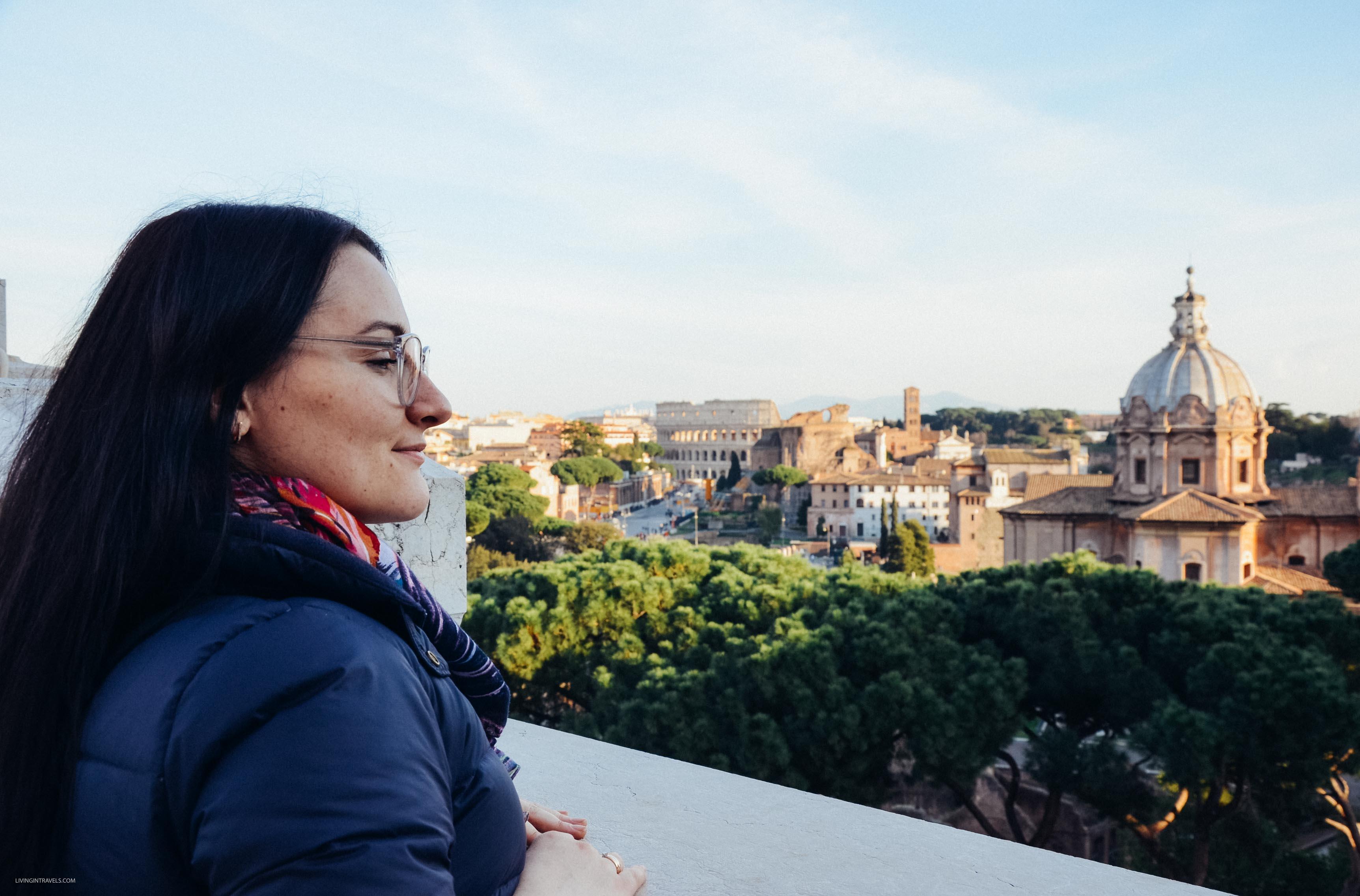 Вид с террасы монумента Витторио. Рим для новичков или как увидеть город бесплатно (почти)