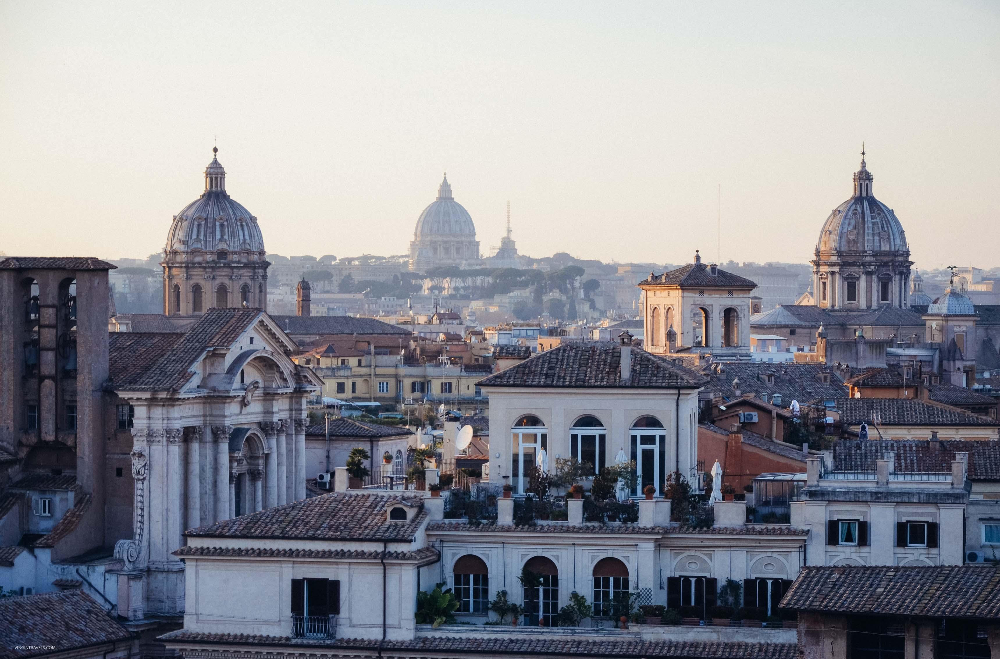 Вид с террасы Кафарелли. Рим для новичков или как увидеть город бесплатно (почти)