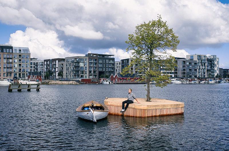 В Копенгагене появился первый плавучий остров для отдыха