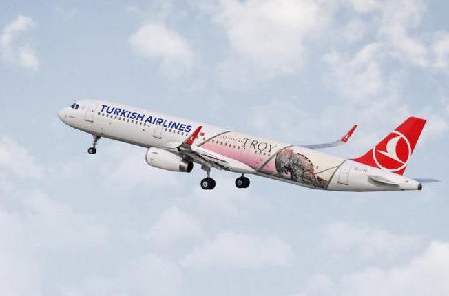 На самолётах Turkish Airlines напечатали троянского коня