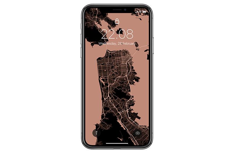 Новый сервис создает обои для смартфона из карт городов