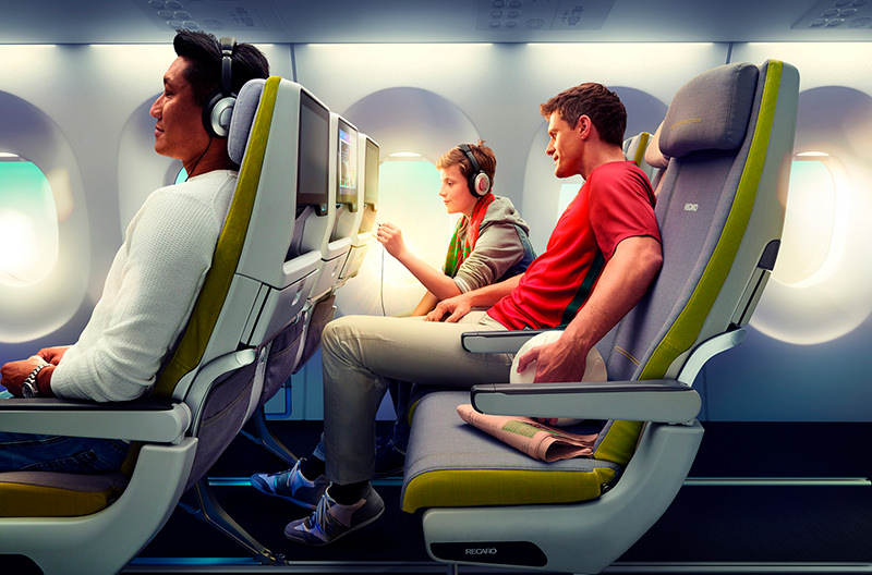 Созданы антибактериальные кресла для самолётов
