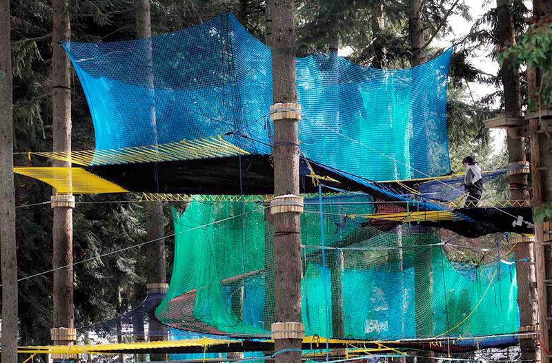 В Испании открылся аттракцион на деревьях