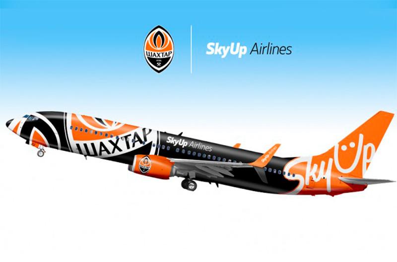 SkyUp запустит самолёт с ливреей футбольного клуба на регулярных маршрутах