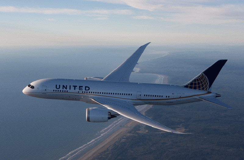 United Airlines уменьшил вес своих самолётов