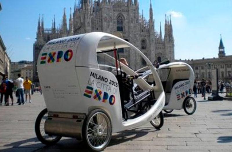 На улицах Милана появятся велорикши