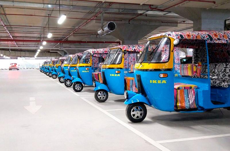 Первый магазин Ikea в Индии доставляет товары на эклектрорикшах